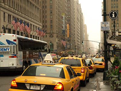 Taxis amarillos Nueva York