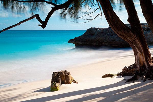 Playa de Barbados en el Caribe