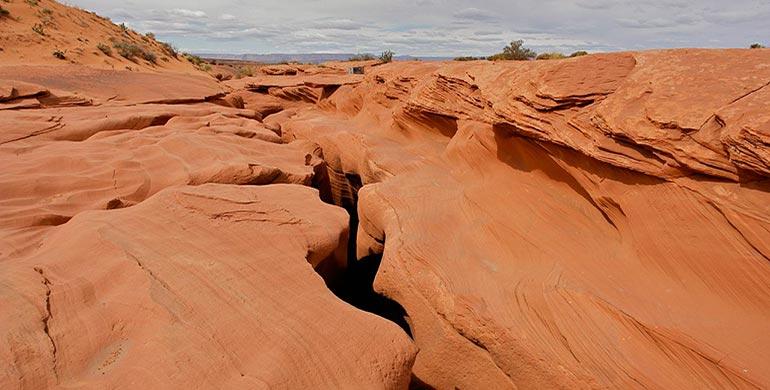 Antilope Canyon desde arriba