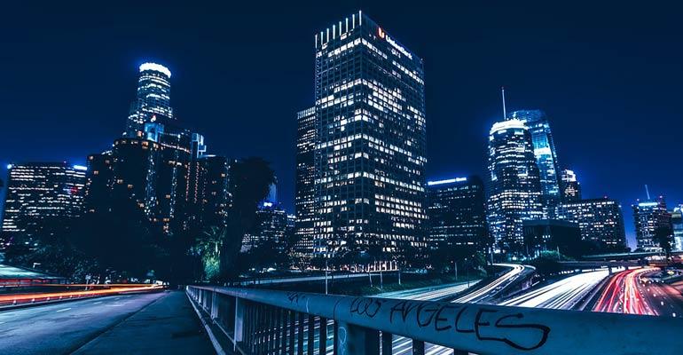 Skyline en Los Ángeles