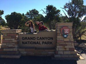 Sonia e Isaac en el Gran Cañón del Colorado