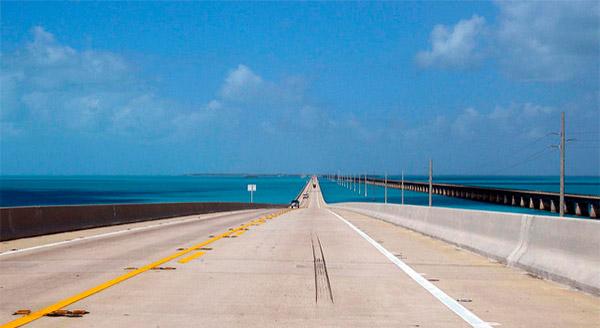 carretera hacia Cayo Hueso