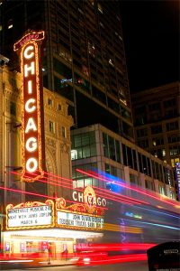 fachada Chicago Theatre