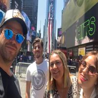 Familia Narbona en Nueva York y Riviera Maya