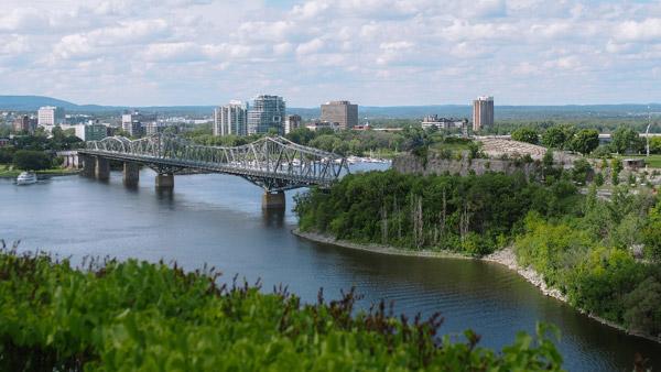 foto desde el río de Quebec