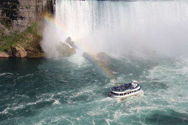 paseo en barco por las Cataratas del Niagara