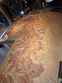 mapa del Gran Cañon