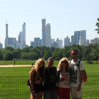 Familia de viaje en Nueva York