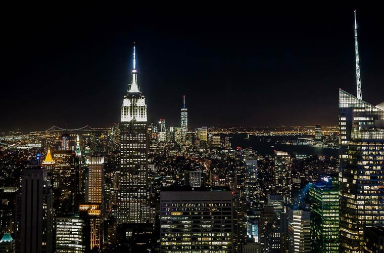 The Empire State de noche