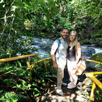 Olimpia y Manuel en Costa Rica
