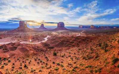 Foto panorámica de Monument Valley