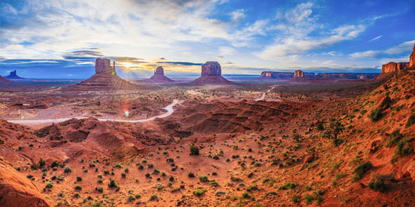 Foto panorámica de Monument Valley