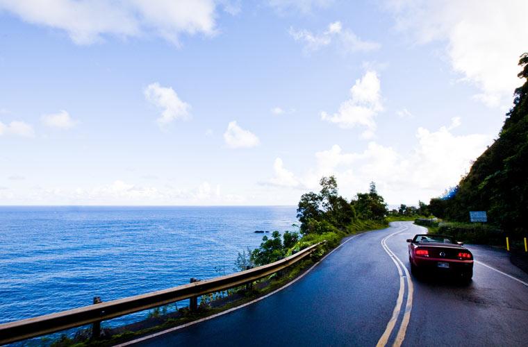 ruta en coche por Hawai