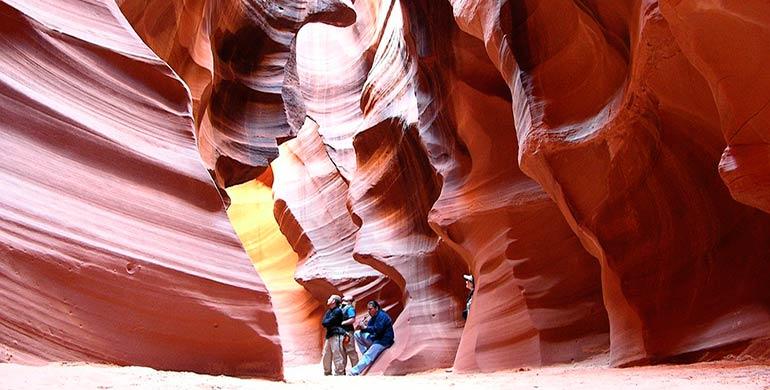 interior de Antilope Canyon