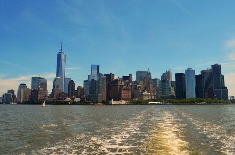 panoramica de Manhattan desde Liberty Island