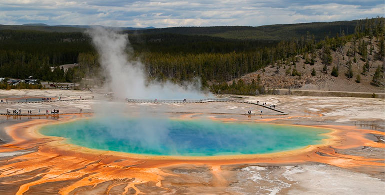Geiser en Yellowstone